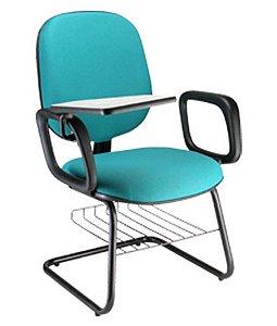 Cadeira Universitária Diretor com Braços  Linha Uno Azul