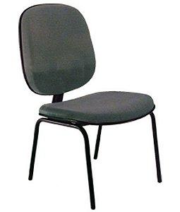 Cadeira Diretor sem Braços Base Fixa com 4 pés Linha Uno Preto