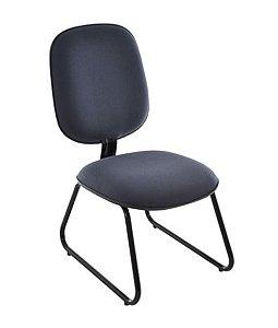 Cadeira Diretor sem Braços Base Fixa Trapézio Linha Uno Preto
