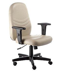 Cadeira Diretor Giratória com Braços  Linha Veneza Bege