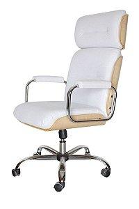 Cadeira Eames Presidente Linha Capa em Madeira Branco