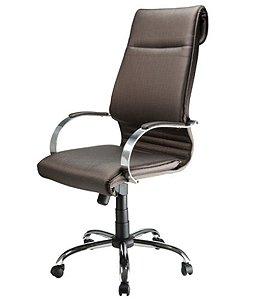 Cadeira Presidente Luxuosa com Base Cromada Linha Chief Preto