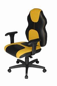 Cadeira Gamer Base Giratória com braço Linha Gamer Racing Amarelo
