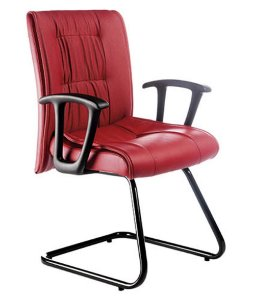 Cadeira Diretor  Base Fixa em S Linha Vicenza Vermelho