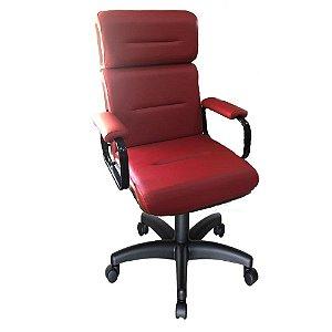 Cadeira Eames Presidente Linha Capa em Madeira Cor Vermelho