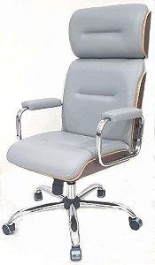 Cadeira Eames Presidente Linha Capa em Madeira Cor Cinza