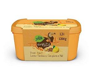 Frozen Yogurt: Limão Siciliano, Gengibre e Mel - 1,5 litros - Pack com 6 unidades