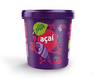 Açaí Guaraná sabor Morango - 500g - Caixa com 6 unidades