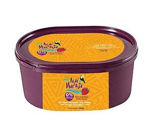 Açaí Maresia Guaraná sabor Morango - 1,02kg - Pack com 6 unidades