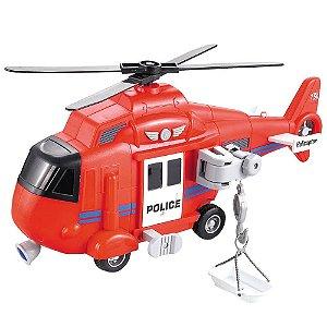 Helicóptero de Resgate com luz e som 1:16