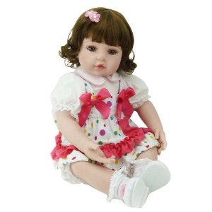 Boneca Bebe Reborn Laura Baby Isis 18''