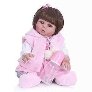 Boneca Bebe Reborn Laura Baby Paola 18''