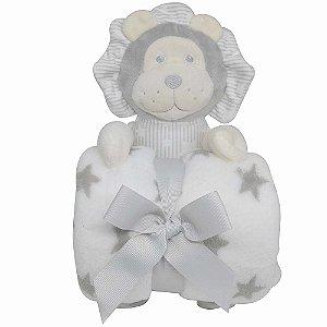 Leão De Pelúcia Com Cobertor Para Bebê