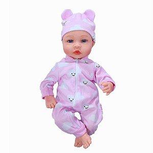 Boneca Bebê Reborn Laura Baby Cry Malu com mecanismo
