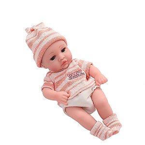 Boneca Bebê Reborn Laura Baby Mini Davi 100% Vinil