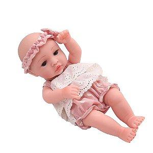 Boneca Bebê Reborn Laura Baby Mini Lauren 100% Vinil