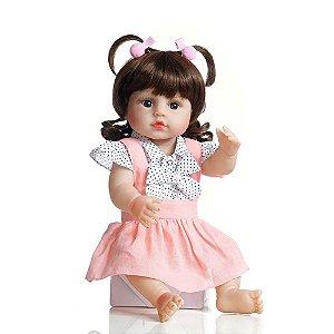 Boneca Bebê Reborn Laura Baby Pandora 100% Vinil