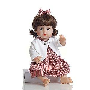 Boneca Bebê Reborn Laura Baby Penélope 100% Vinil