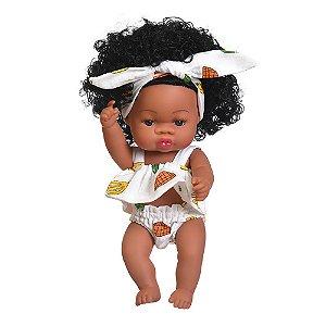 Boneca Bebê Reborn Laura Baby Sweet Lind 100% Vinil