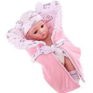 Boneca Bebê Reborn Laura Baby Mini Isabelly 100% Vinil