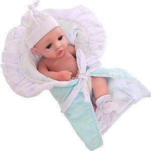 Boneca Bebê Reborn Laura Baby Mini Lino 100% Vinil