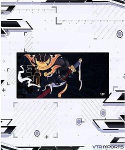 (Envio em até 25 dias úteis) Mousepad Inked Gaming Collab VTR Imports - God Samurai XXL (120x60cm)