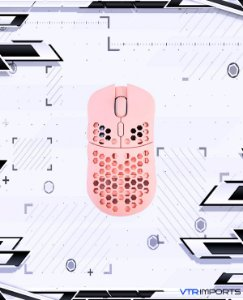 (ENCOMENDA) Mouse HK Gaming Mira S Ultra Lightweight Honeycomb Shell Wired RGB Gaming Mouse - Up to 12 000 cpi | 6 Buttons - 61g Only (Mira-S, Rose Quartz)