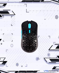Mouse HK Gaming Mira S Ultra Lightweight Honeycomb Shell Wired RGB Gaming Mouse - Up to 12 000 cpi | 6 Buttons - 61g Only (Mira-S, Blue Phantom)