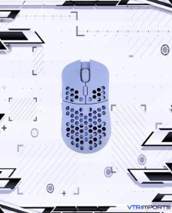 Mouse HK Gaming Mira S Ultra Lightweight Honeycomb Shell Wired RGB Gaming Mouse - Up to 12 000 cpi | 6 Buttons - 61g Only (Mira-S, Blue Serenity)