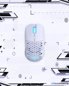 (ENCOMENDA) Mouse Pwnage Ultra Custom Symm: Ultralight Symmetrical Gaming Mouse - Flawless Pro Grade 3389 Optical Sensor- Flexible Paracord Cable - 100% PTFE Skates - Custom Weight as Low as 61 Grams - White