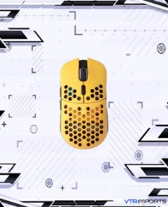 (ENCOMENDA) Mouse HK Gaming Mira S Ultra Lightweight Honeycomb Shell Wired RGB Gaming Mouse - Up to 12 000 cpi | 6 Buttons - 61g Only (Mira-S, Bumblebee)
