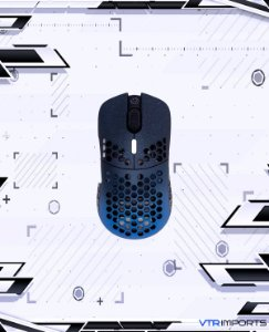 (ENCOMENDA) Mouse G-Wolves Hati HTM Stardust (Limited Edition) Ultra Lightweight Honeycomb Design Wired Gaming Mouse up to 16000 DPI - 3389 Performance Sensor - (58g) (Blue)