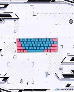 Keycaps Pink and Blue PBT 61 Teclas (Teclado 60%)