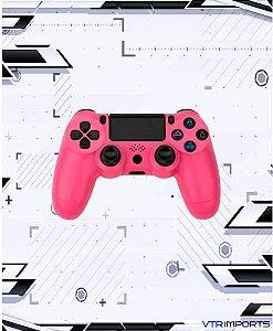 Controle PS4 - Pink (Acompanha caixa e cabo carregador)