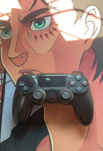 Controle PS4 - Black (Acompanha caixa e cabo carregador)