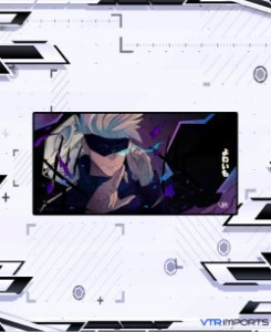 (Disponível em Pré-Venda até 23/10) Mousepad Inked Gaming Anime Edition Collab VTR Imports - GOJO - Jujutsu Kaisen XXL 120x60cm