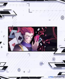 (Disponível em Pré-Venda até 23/10) Mousepad Inked Gaming Anime Edition Collab VTR Imports - Hisoka XXL 120x60cm
