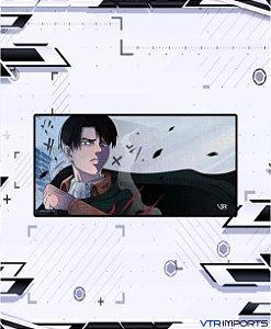 (Disponível em Pré-Venda até 23/10) Mousepad Inked Gaming Anime Edition Collab VTR Imports - Levi AOT XXL 120x60cm