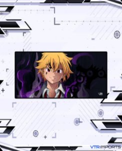 (Disponível em Pré-Venda até 23/10) Mousepad Inked Gaming Anime Edition Collab VTR Imports - Meliodas Large 90x40cm