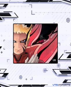 (Disponível em Pré-Venda até 23/10) Mousepad Inked Gaming Anime Edition Collab VTR Imports - Naruto Baryon Large-s 45x40cm