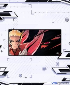 (Disponível em Pré-Venda até 23/10) Mousepad Inked Gaming Anime Edition Collab VTR Imports - Naruto Baryon Large 90x40cm
