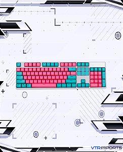 (ENCOMENDA) Keycaps Miami PBT 104 Keys (100% Keyboard Full-Size)