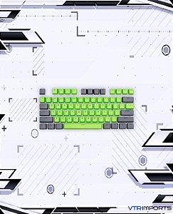 Keycaps Black and Green PBT 104 Teclas (Teclado Full-Size)