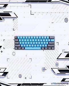 Keycaps Gray Blue PBT 61 Teclas (Teclado 60%)