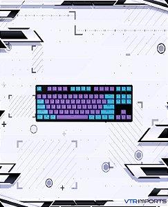 Keycaps Purple and Blue PBT 75 Teclas (Teclado TKL)