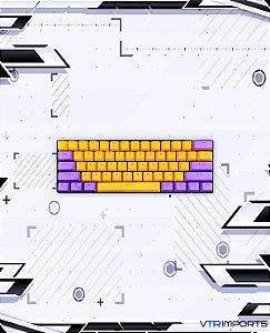 Keycaps Los Angeles Lakers PBT 61 Teclas (Teclado 60%)