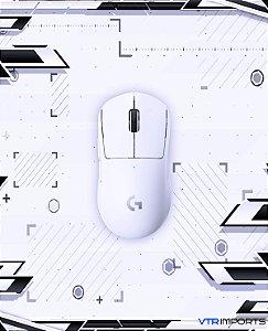 Mouse Logitech G Pro Superlight Branco 61gr + Keycaps Custom Aleatórias + Manguito Esports