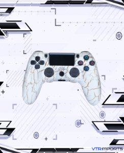 (PRONTA ENTREGA) Controle PS4 - Golden White com caixa e carregador + 1 Kontrol Freek