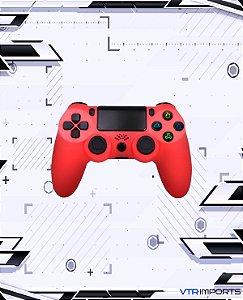 Controle PS4 - Red (Acompanha caixa e cabo carregador)