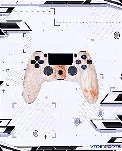 (PRONTA ENTREGA) Controle PS4 - Wood Color com caixa e carregador + 1 Kontrol Freek